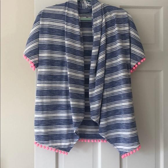 Vineyard Vines Sweaters - Vineyard Vines Drape Front Short Sleeve Cardigan